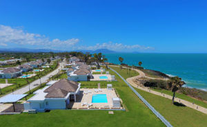 Aerial view of Ocean Village Deluxe shoreline