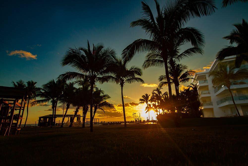 sunset at Seawinds