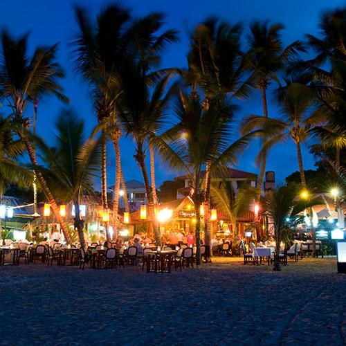 Cabarete Beach at night
