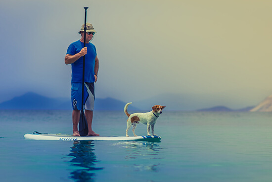 Enjoy paddle boarding and other water sports