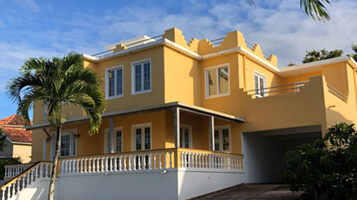 Front exterior of villa property for sale