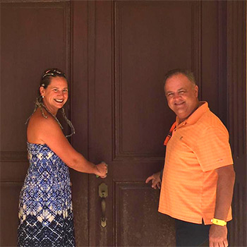 New villa owners Marie Eve & Mike
