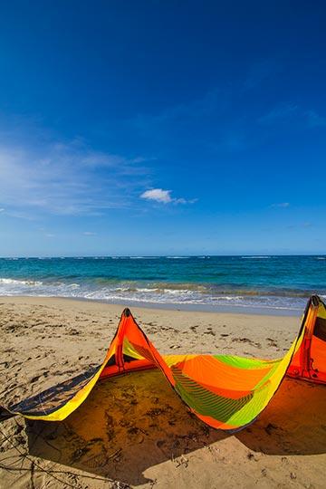 Cabarete beach with ocean in background