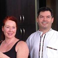 Christine & Steve in their new villa