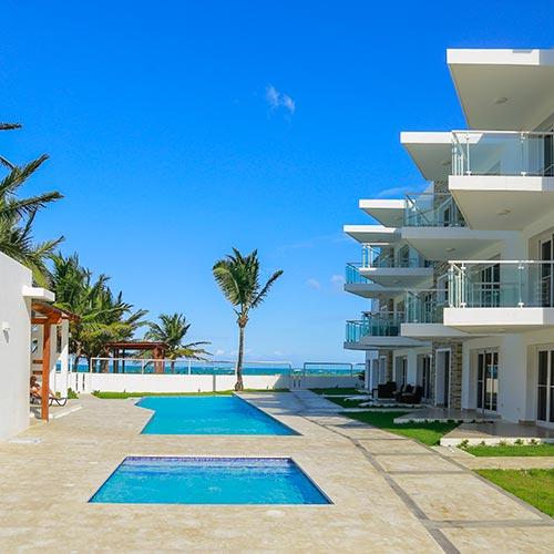 Beachside condo in Cabarete, Dominican Republic