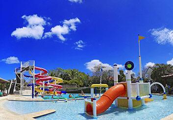 water slides for kids at main pool area in Sosua Ocean Village