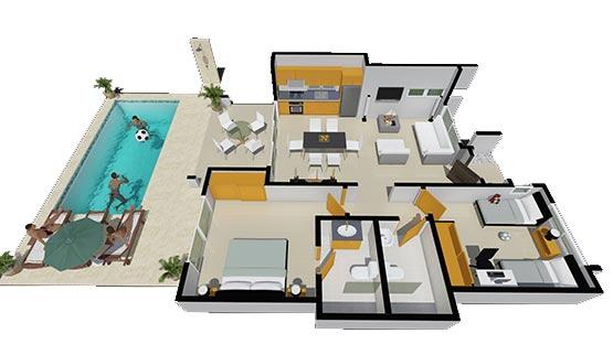 Diseno, 2 dormitorios, Encuentro Residences
